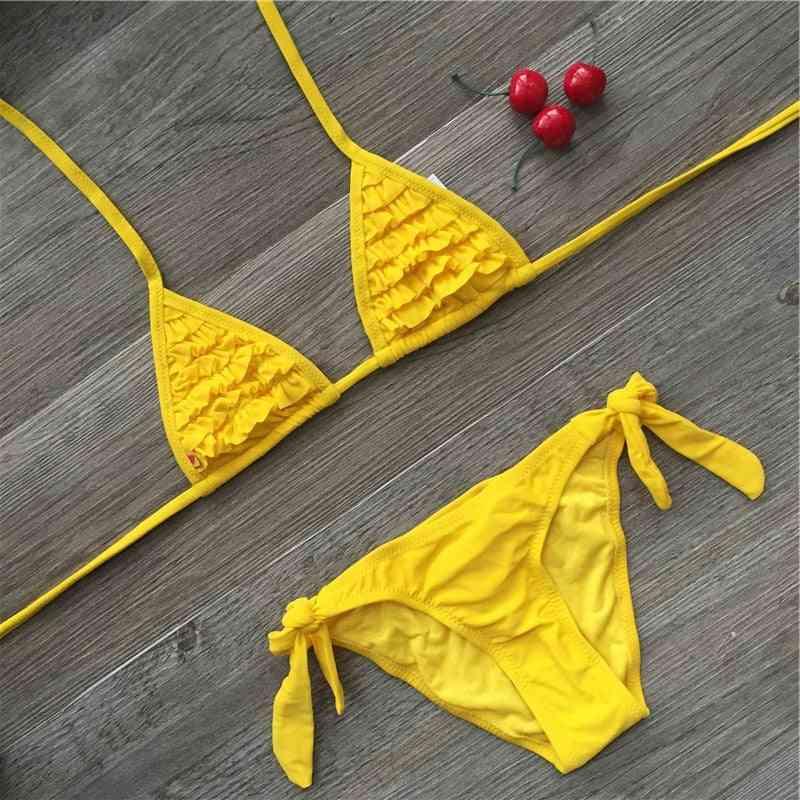 Summer Swimwear, Soild Baby Biquini Infantil Swimsuits