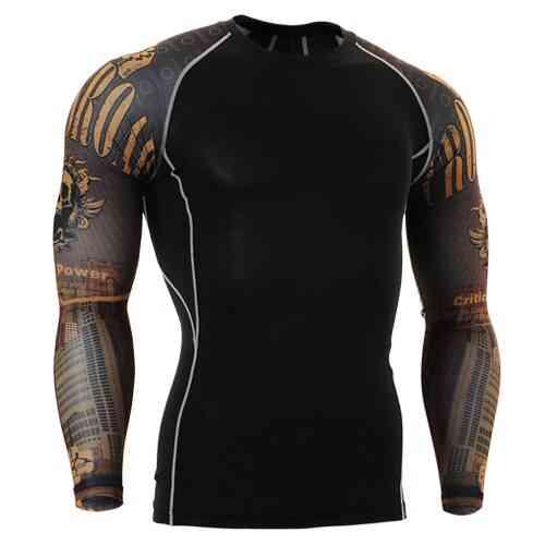 Mens O-neck Bowling Tee Shirt, Wear For Fitness, Gym Training, Bodybuilding