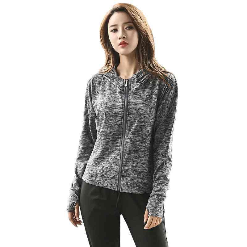 Women's Hooded Jacket, Running Suit Long Sleeved Sweatshirt