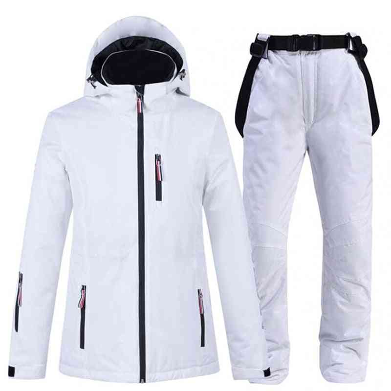 Men & Women Ski-jacket With Pants, Lovers Snowboard Trousers