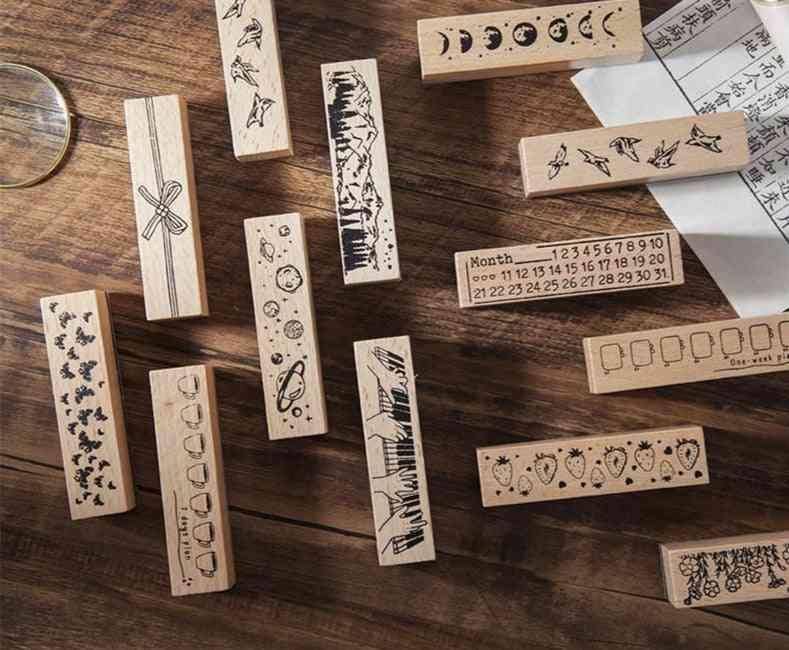 Standard Wooden Rubber Stamp-12 Designs
