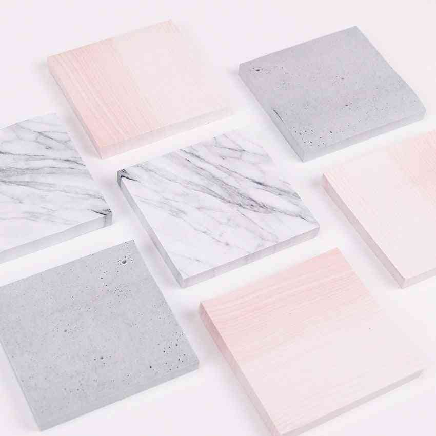 Creative Marble Textured Memo Pad-sticky Notes