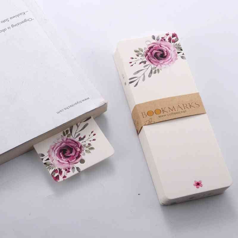 Elegant Flower Patterns Bookmark