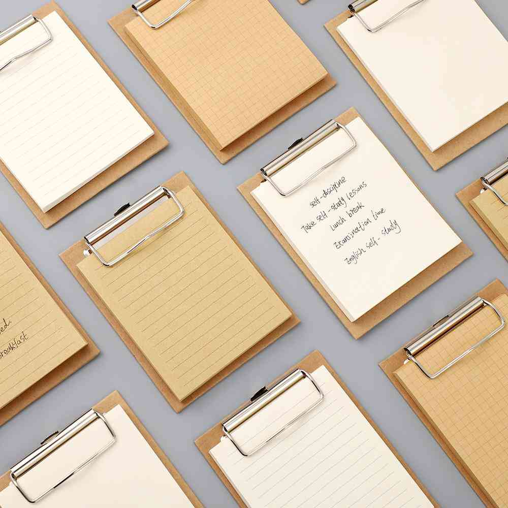 Diary Style Clipboard Book-memo Pads For School/office