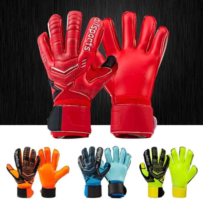 Professional Goalkeeper Gloves Latex Finger Protection For Adults Football Goalie Gloves