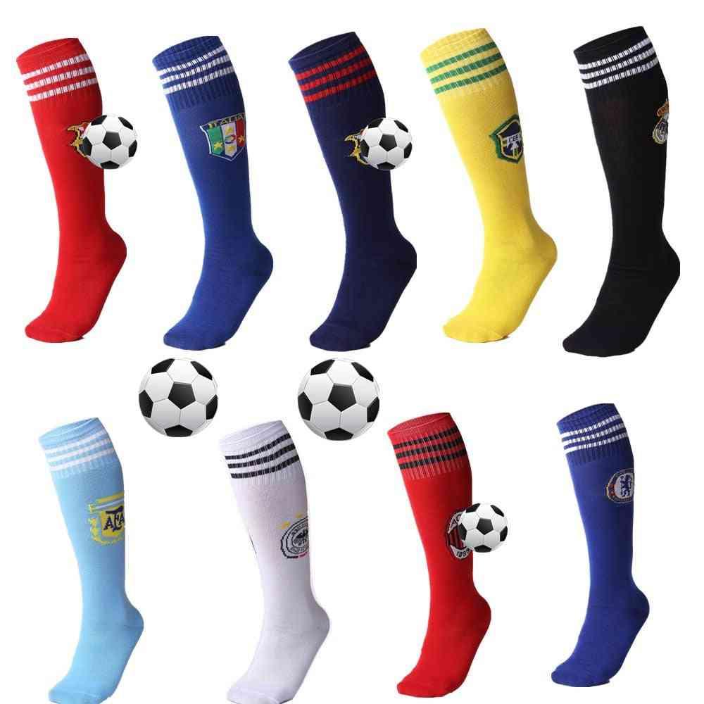 Professional Football Socks, Breathable Knee-high Training Long Stocking