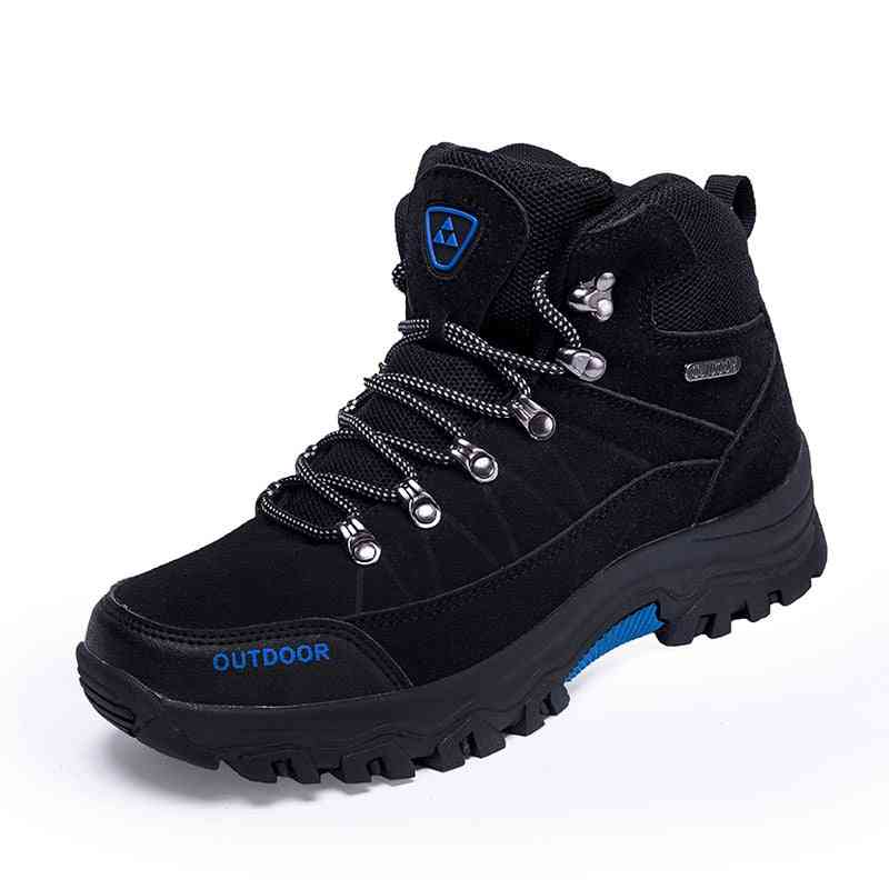 Male Outdoor Waterproof Leather Shoes For Sports, Mountain Climbing Boots Sneakers