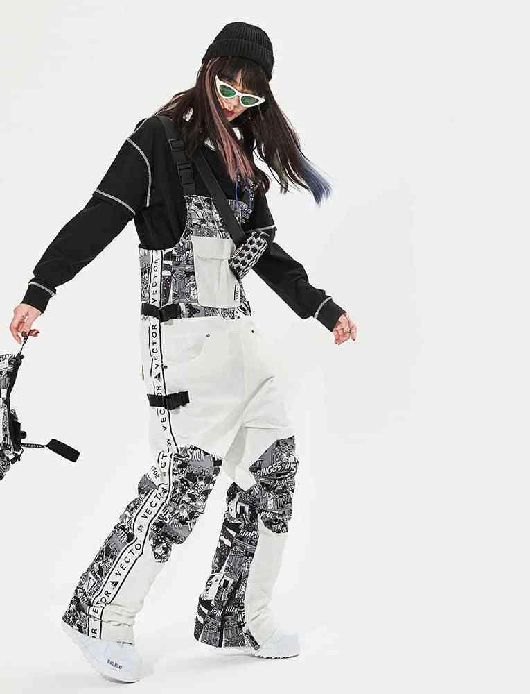 Extra Thick Men, Women Ski Pants, Straight Full, Overalls Winter, Warm Sports Snowboard Snowmobile