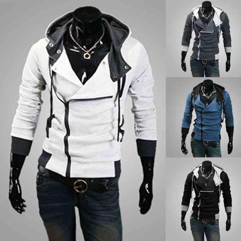 Men Fashion Hooded Sweatshirts, Spring Sportswear -long Sleeve Slim Tracksuit Jacket