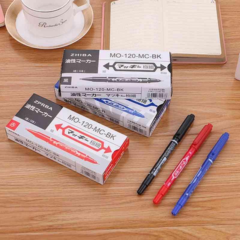 Double-head Marker Hook Line Pen, Cute Stationery, Drawing Art, School, Office