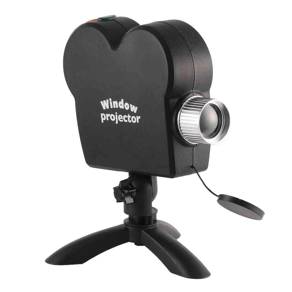 Christmas Halloween Laser Projector- 12 Movies Disco Light Mini Window Display Home Projector, Indoor / Outdoor Wonderland Projector