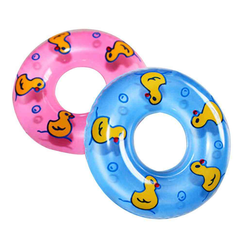 Baby Bath Toy, Inflatable Swim Ring Plastic Mini Circle Cup Holder