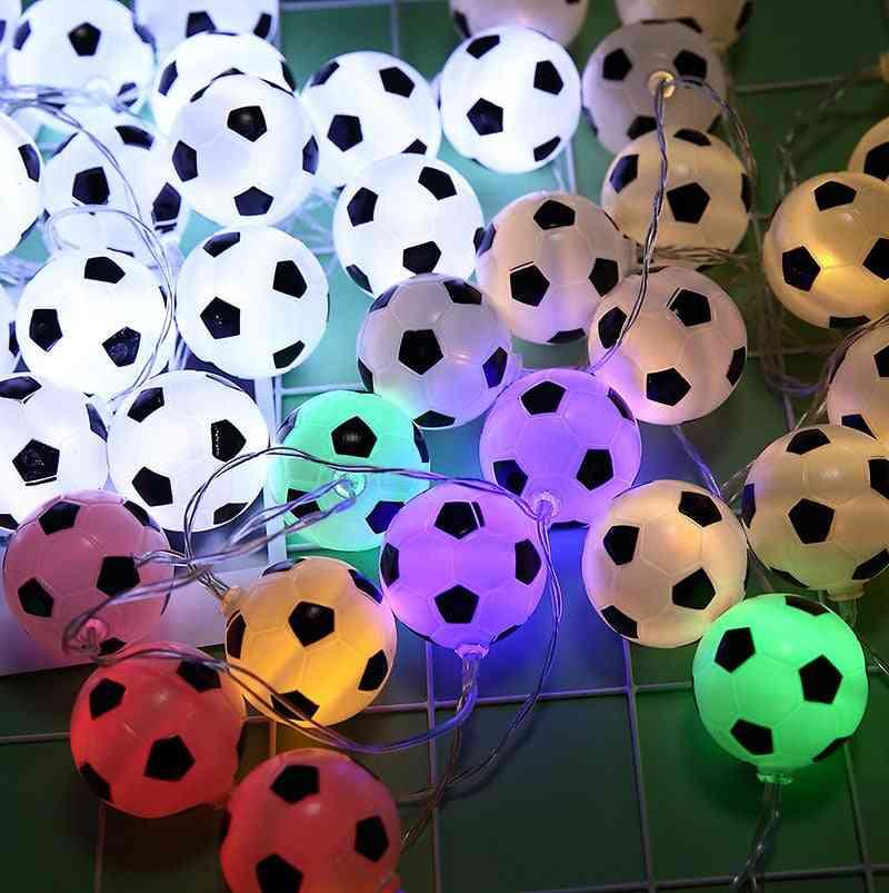 Led Football Soccer String Light