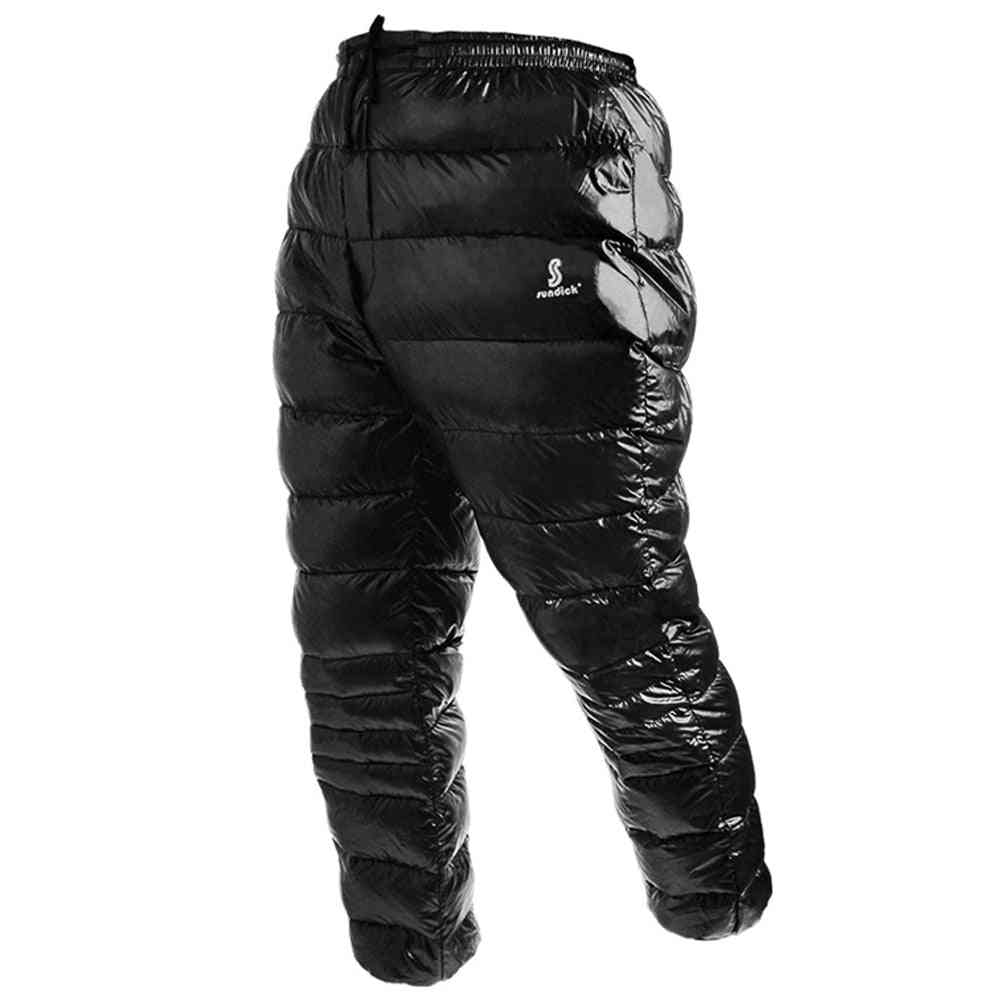 Climbing Sports Goose Down Pants, Thermal Waterproof Trousers