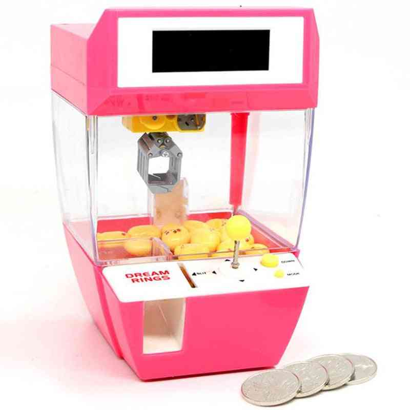Funny Kids Coin Operated Games- Mini Claw Hanging Machine