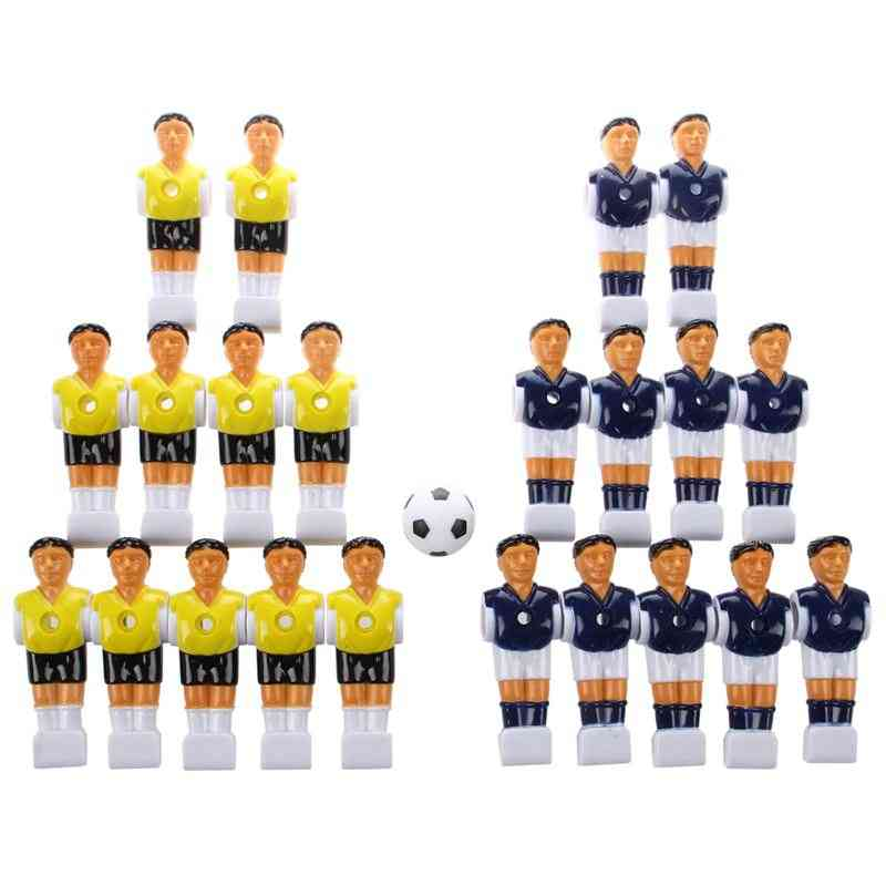 22pcs Foosball Man Table -soccer Player Part With Ball