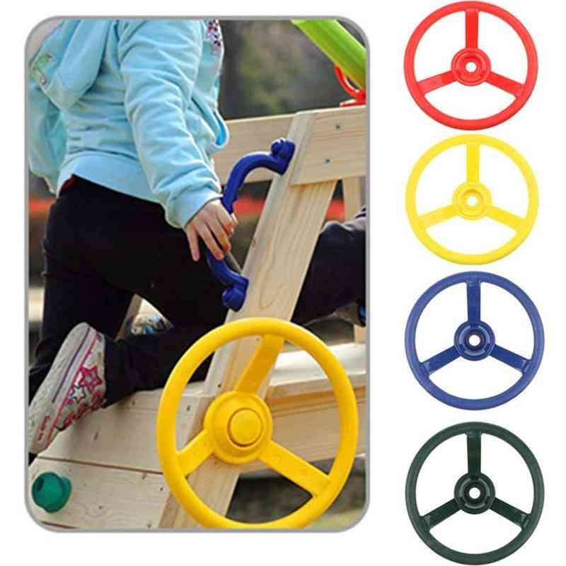 Children's Small Steering Wheel For Use On Swings And Playground
