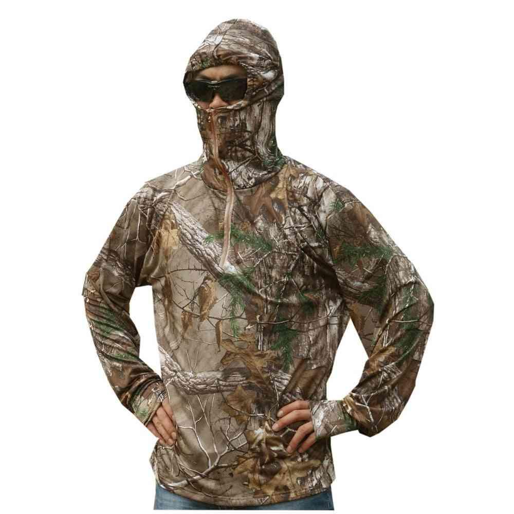 Men Bionic Fishing T-shirt, Breathable Camouflage Shirt, Anti-uv Sun Protection
