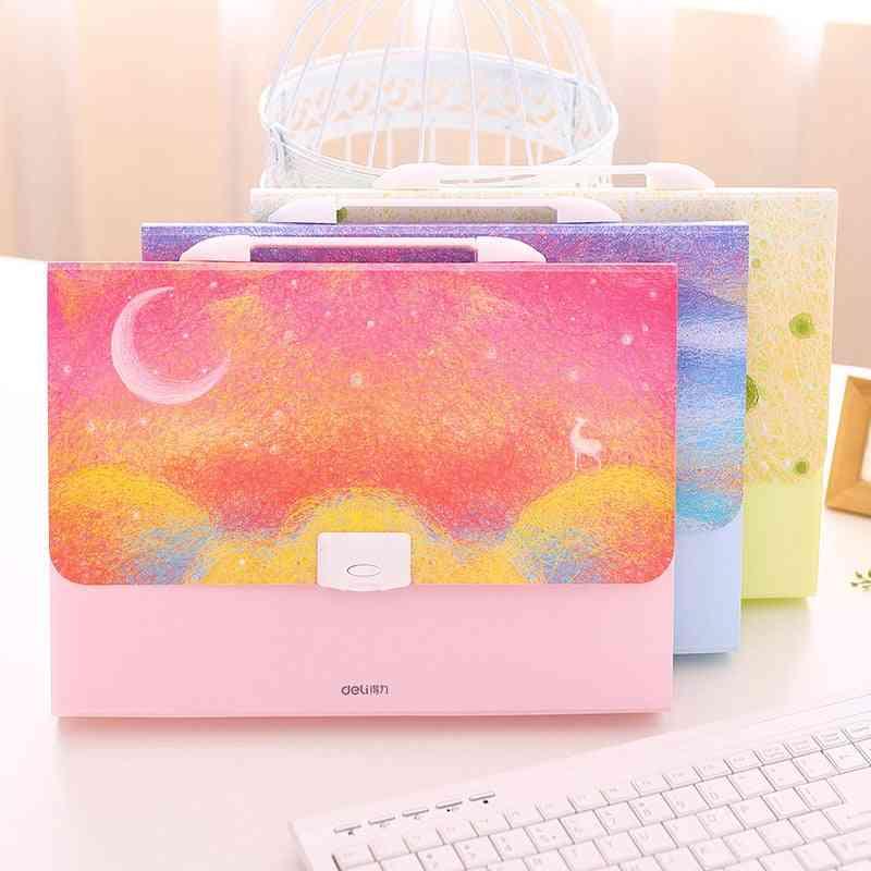 Rainbow Elk A4 Expanding Wallet File Folder, Organizer Girl Student Document Bag Box