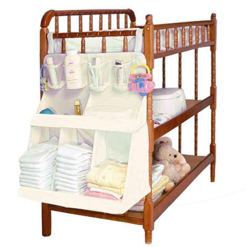 Baby Bed Hanging Organizer , Waterproof Diapers Portable Storage Bag
