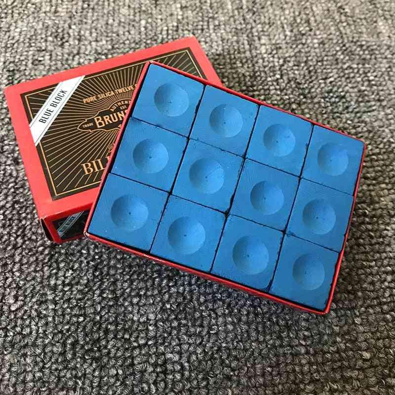 12pcs Billiard Chalk Snooker Billiard Game Cue Tip