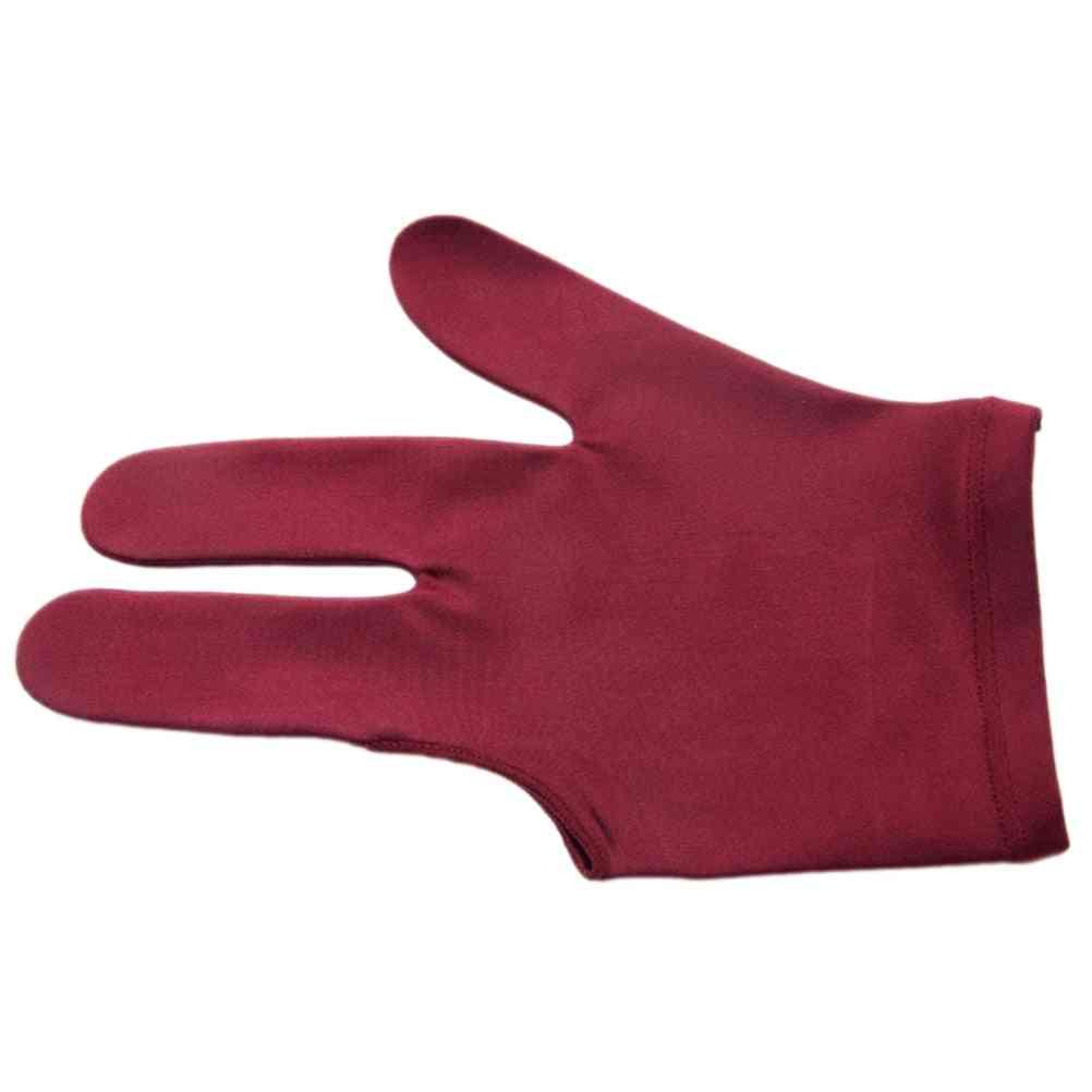 Spandex Snooker Billiard Cue Gloves- Pool Left Hand Open Three Finger Accessory