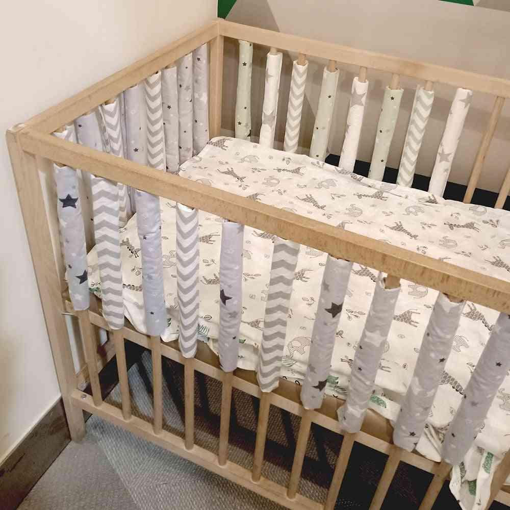 Newborn Infant Safe Fence Line Cot, Protector Bumpers