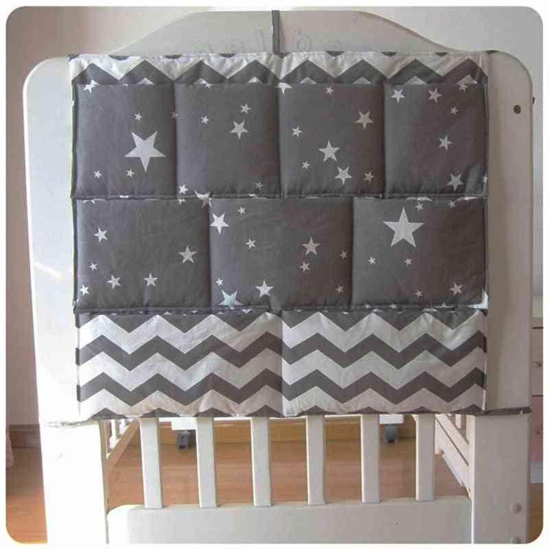 Cartoon Rooms Nursery Hanging Storage Bag - Baby Cot Bed Crib Organizer