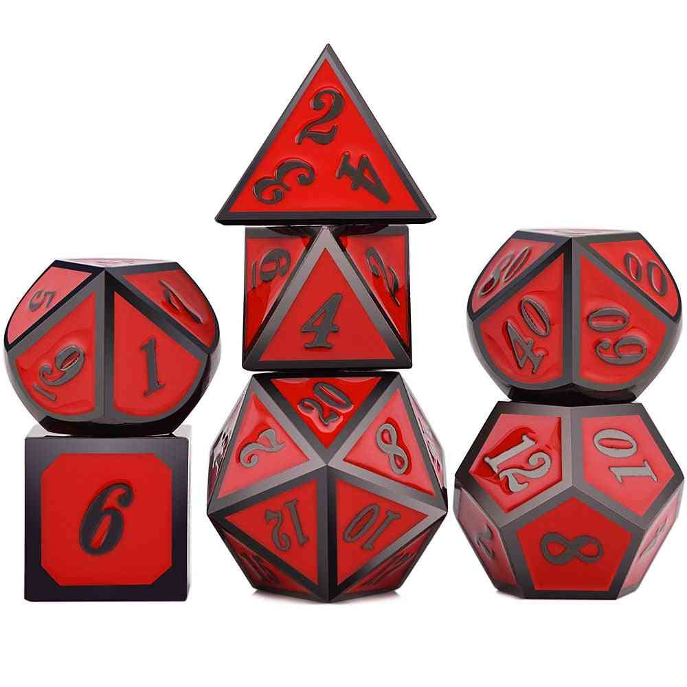 7pcs Metal Polyhedral Dice