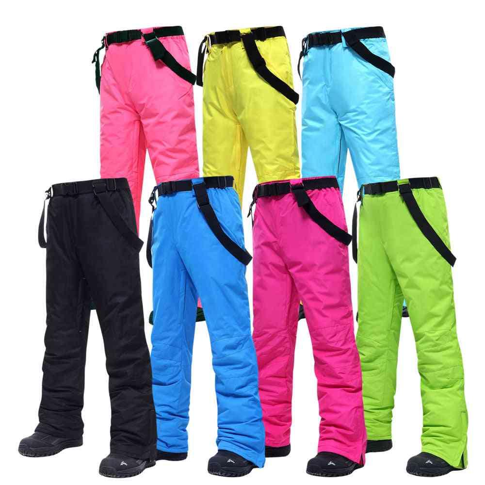 Ski Pants Men And Women, Outdoor Windproof Waterproof Warm Snow Trousers