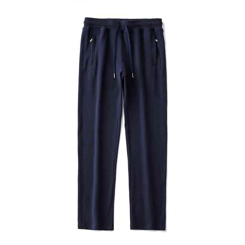 Men Pants Hip Hop Joggers Waist Trousers, Basic Solid Elastic Pockets