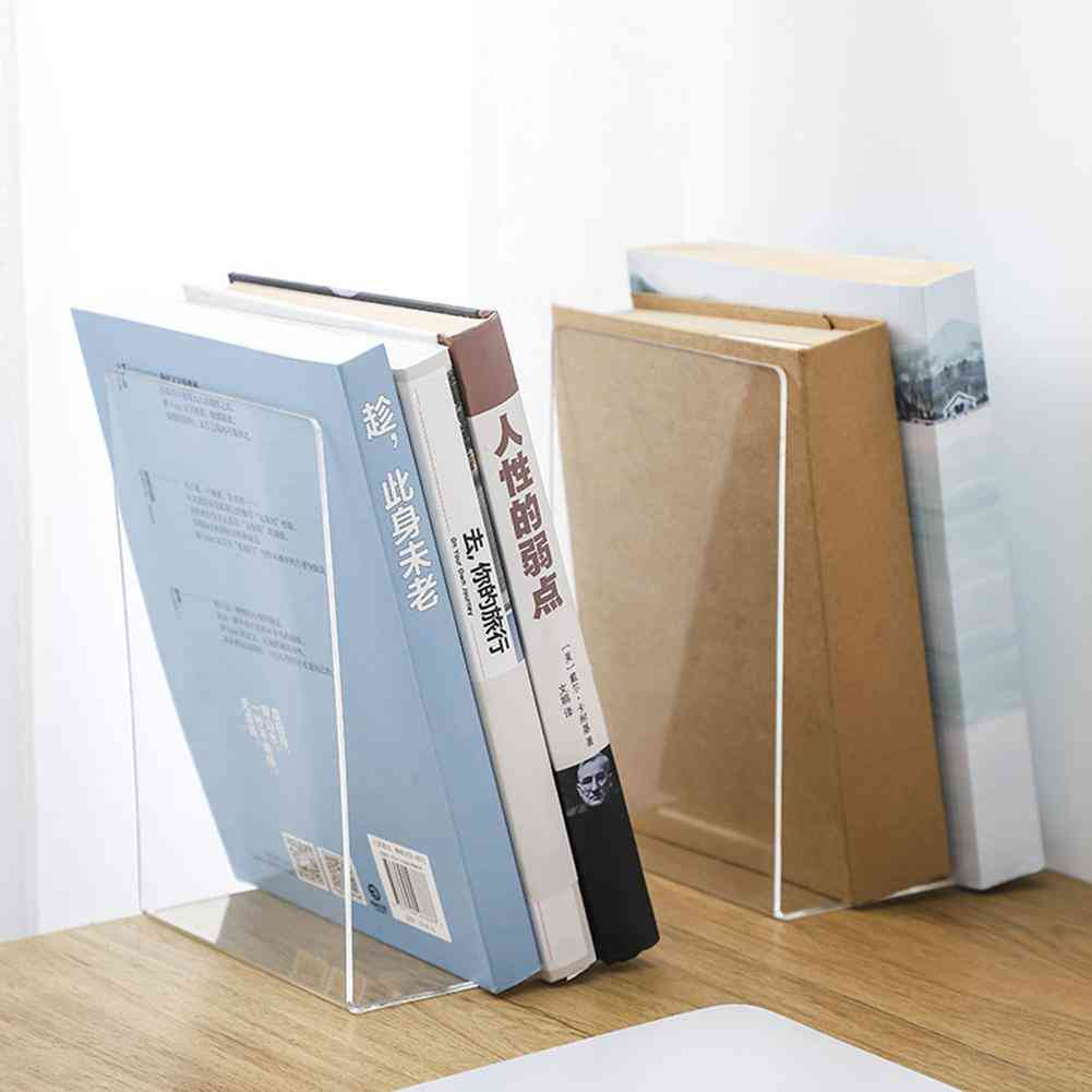 Acrylic Transparent Bookends Display Stand