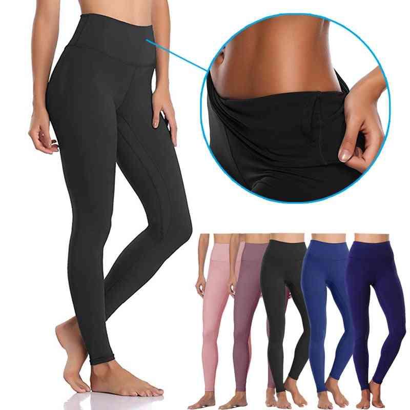 High Waist Yoga Pants, Women Running Leggings With Inner Pocket