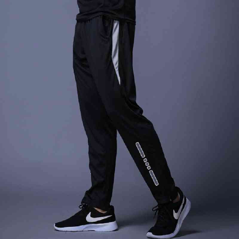 Men Sport High Elasticity Casual Trousers- Polyester Fitness Running Pants