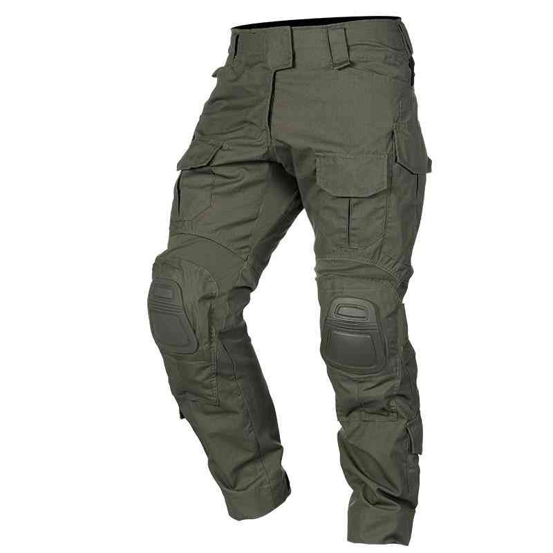 Tactical Pants With Knee Pads, Airsoft Camping Hiking Hunting Bdu Ripstop Combat Pant