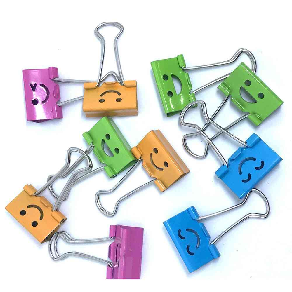 Common Smile Cute Binder Clips For Home/office