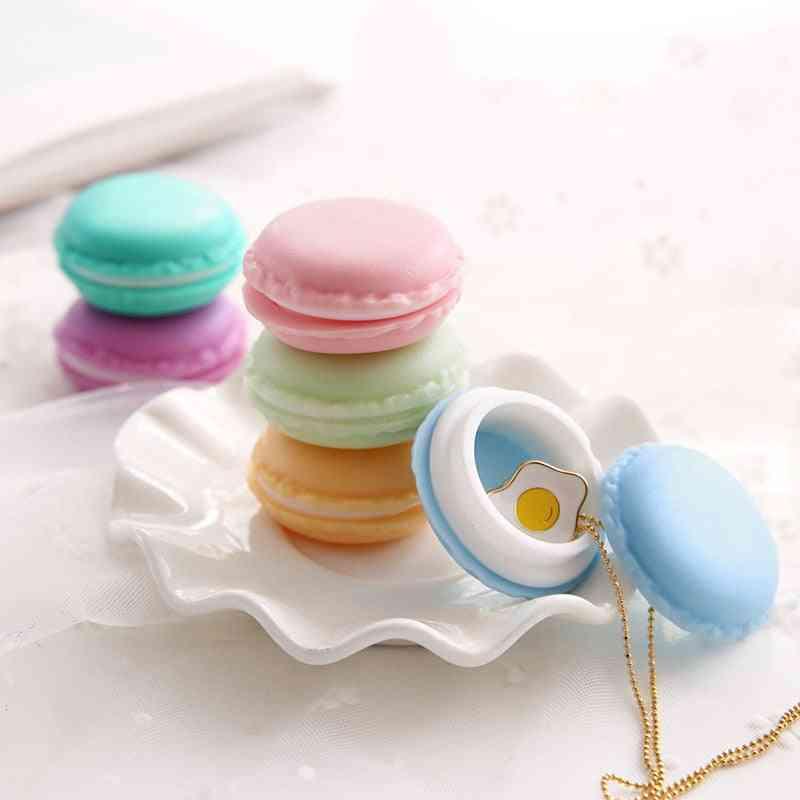 Mini Macaron Shape Storage Box For Stationery