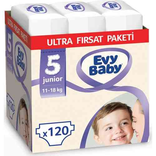 Evy Baby Diapers 5 Size Junior Ultra Occasion Pack