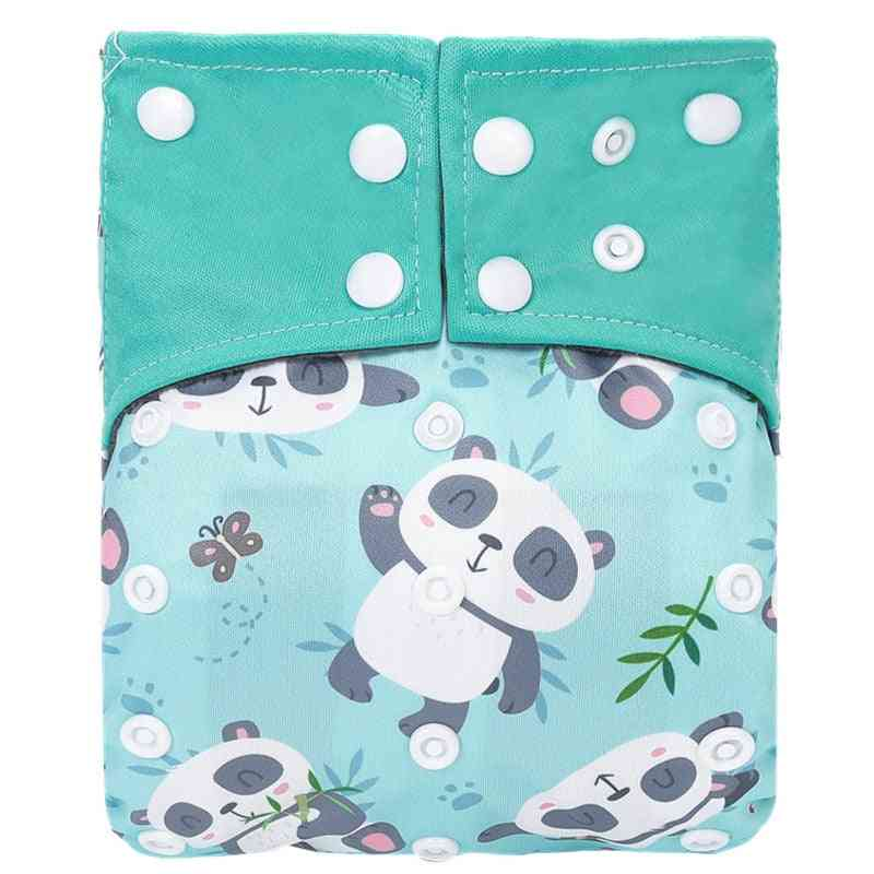 Reusable Bamboo Charcoal Cloth Diaper, Waterproof One Size Pocket Nappy