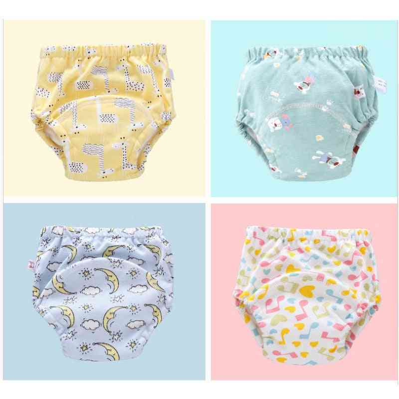 6layer Waterproof Reusable Baby Cotton Training Pants, Infant Shorts, Underwear Cloth Diaper