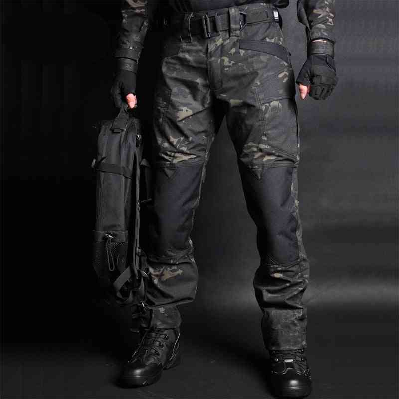Tactical Pants Camouflage Military Casual, Combat Cargo Pant -water Repellent Ripstop Men's Trousers