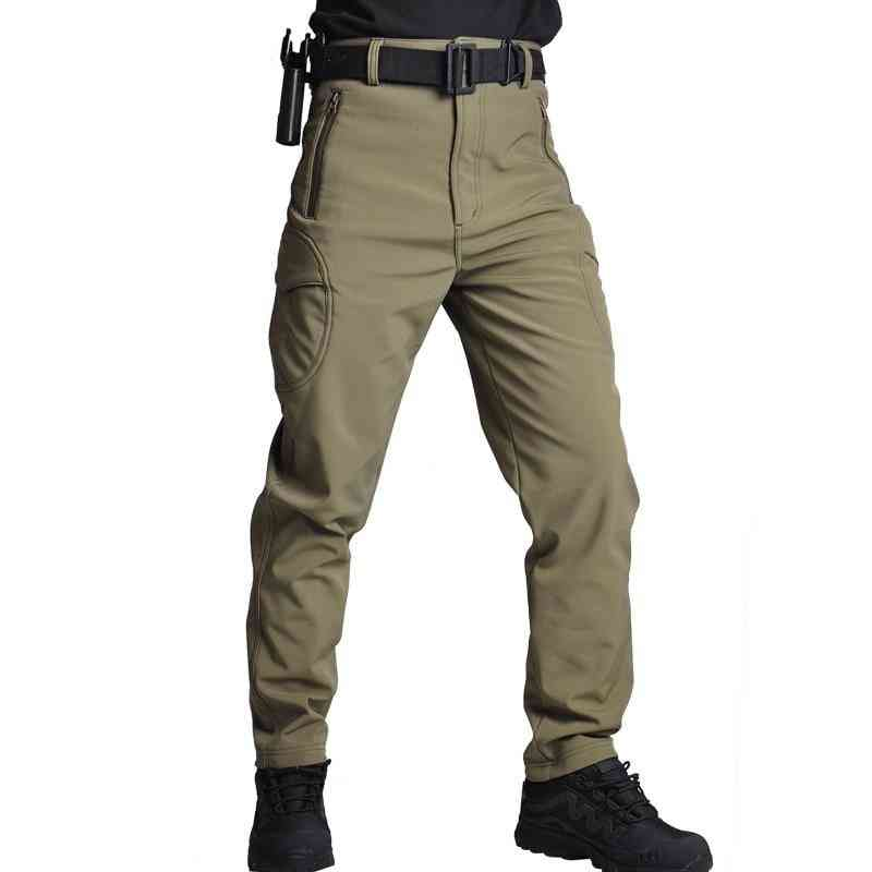 Military Pants, Tactical Camouflage -men Rip-stop Thick Fleece Combat Trousers
