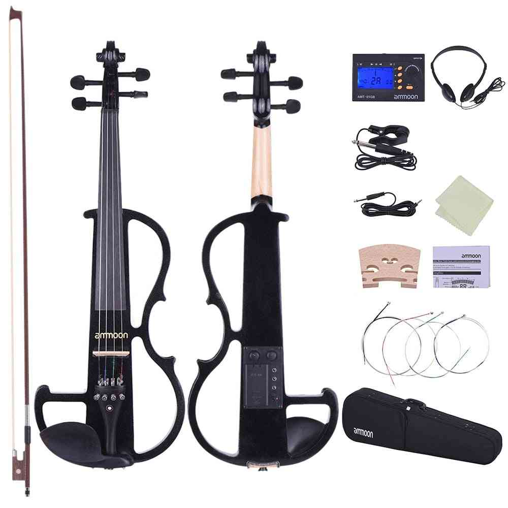 Silent Style-2 Electric Violin-powered By A 9v Alkaline Battery