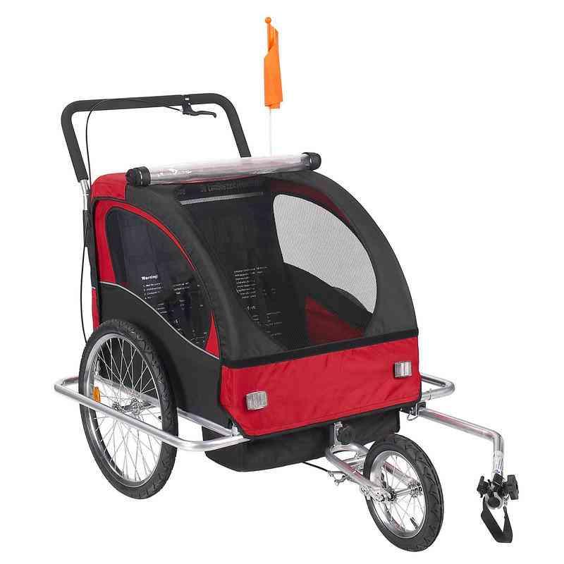 Baby Stroller Wheels, Fold Bike Trailer, Kids Tandem Bicycle