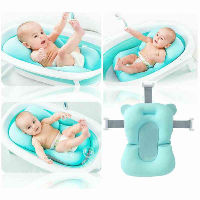 Portable Baby Bath Tub, Anti-slip Sponge Foam Pad