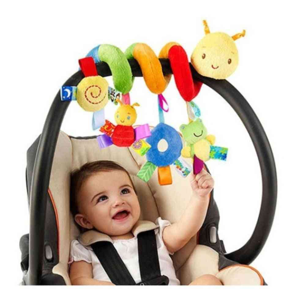 Infant Baby Worm Crib Bed Around Rattle Bell Cartoon Insect Stroller Hanging Stuffed Wrap Spiral Safety