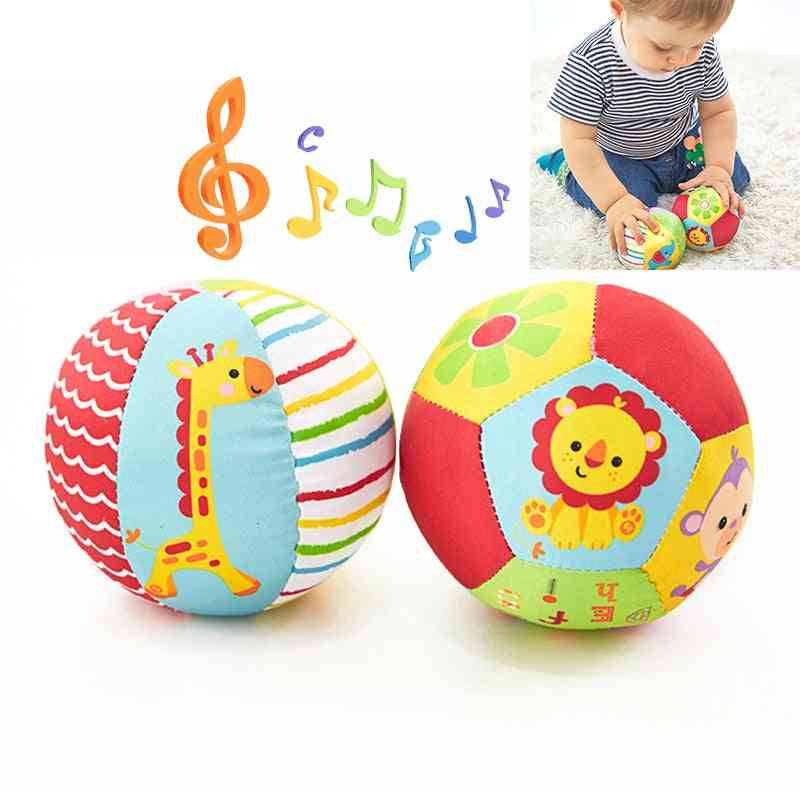 Baby Animal Ball -soft Plush Mobile With Sound, Rattle