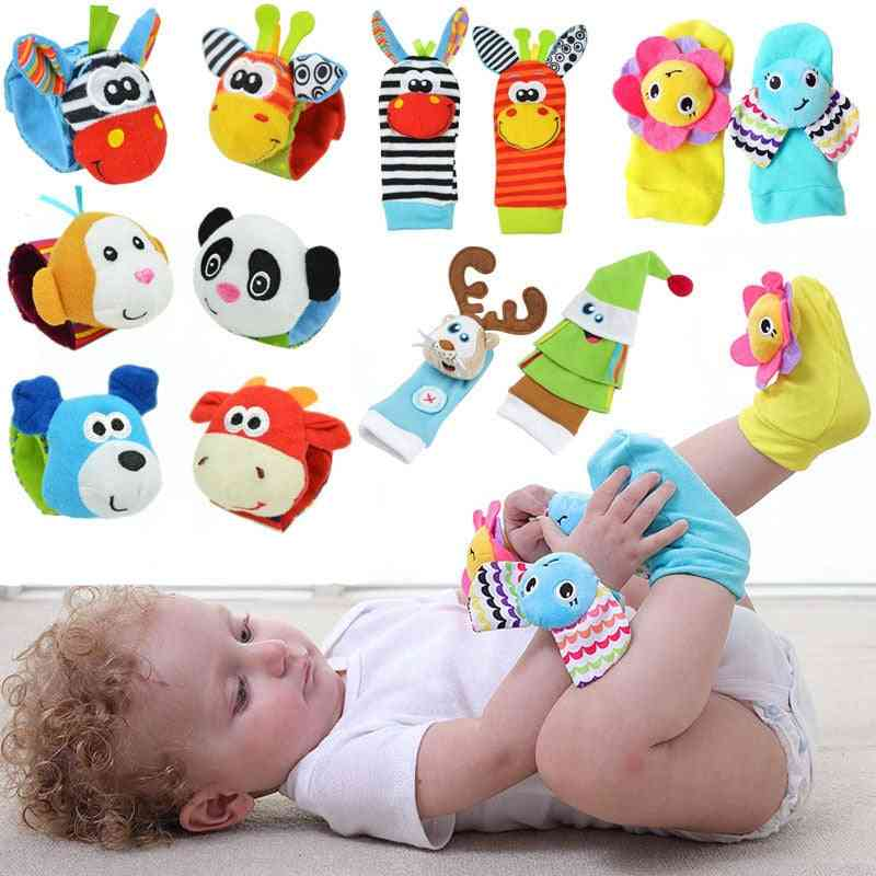 Infant Baby Rattles/ Sound Kids Toy Hanging  Early Learning Educate Socks