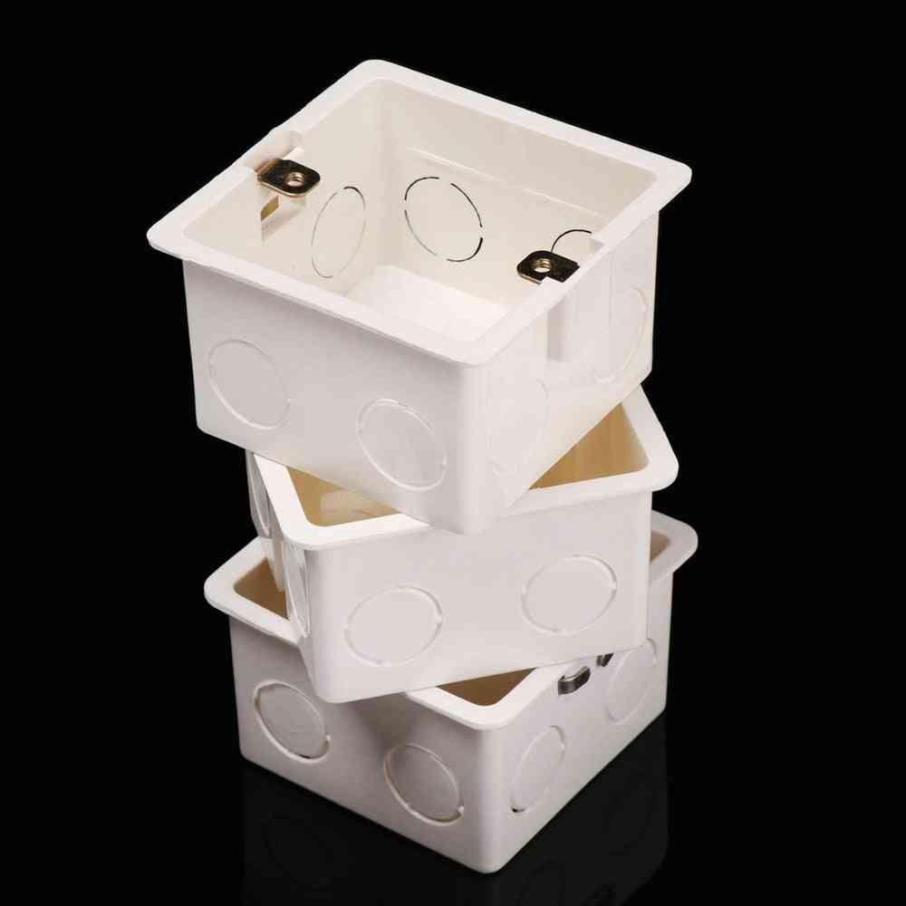 Plastic Wall Switch Concealed Bottom Thickened Wallmount Junction Box