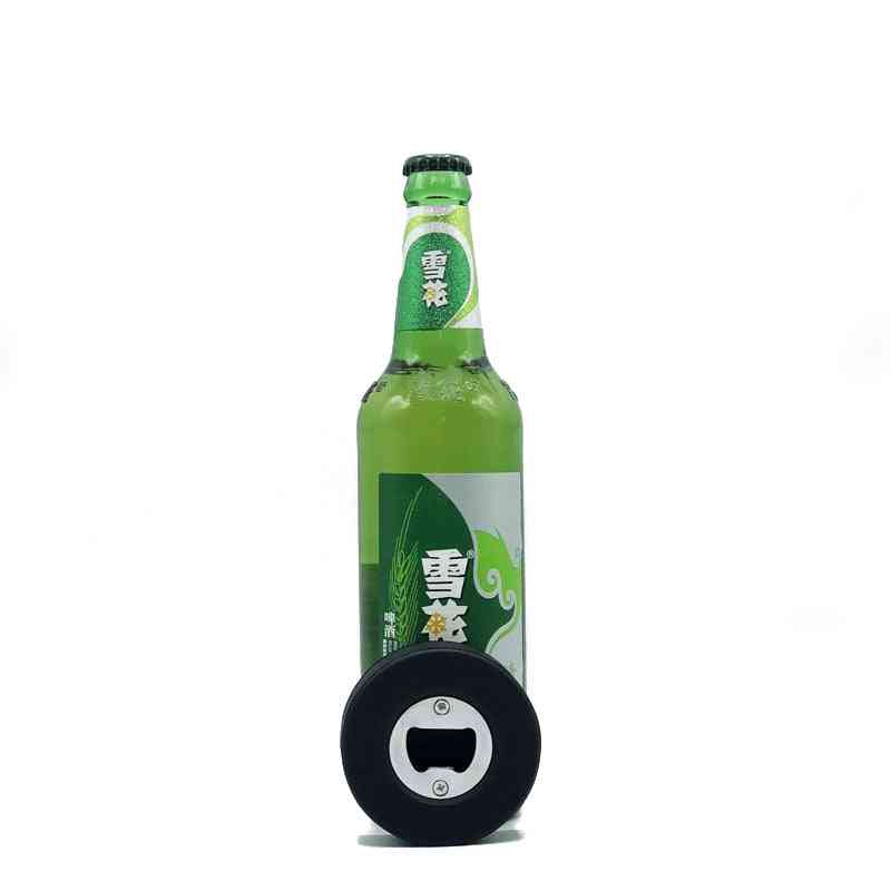 Hockey Puck Bear Bottle Opener, Portable Opening Natural Rubber